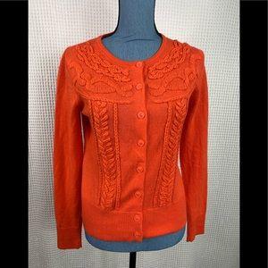 Anthropologie Tabitha Sweater Orange Small